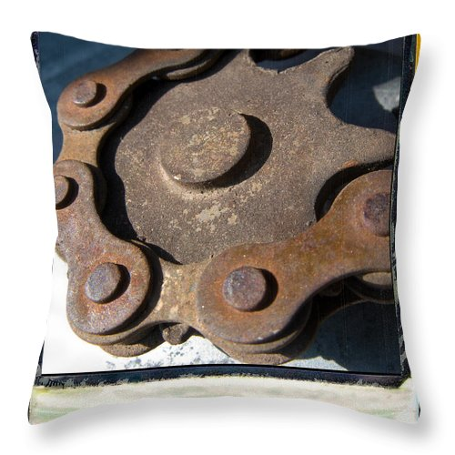 Chain Throw Pillow featuring the photograph Connected by Jeffery Ball