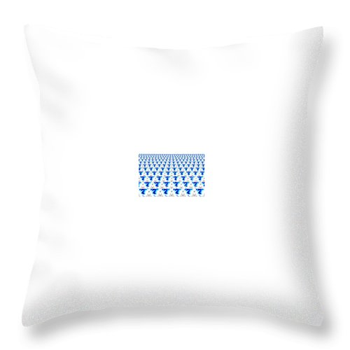 Art Throw Pillow featuring the digital art Connected by One Ironaut