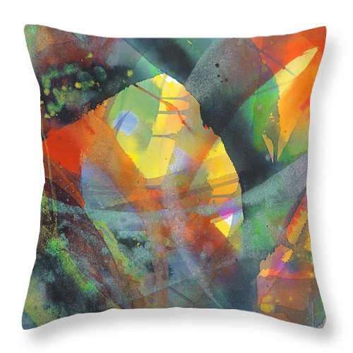 Abstract Throw Pillow featuring the painting Connections by Lucy Arnold