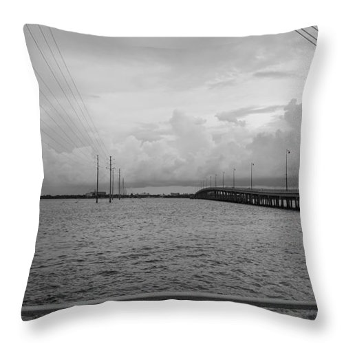 Charlotte Harbor Throw Pillow featuring the photograph Connections by Ric Schafer