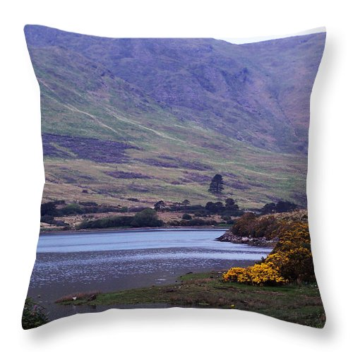 Landscape Throw Pillow featuring the photograph Connemara Leenane Ireland by Teresa Mucha