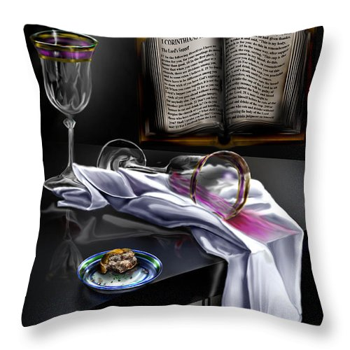 Still Life Painting Throw Pillow featuring the painting Consecrated by Reggie Duffie