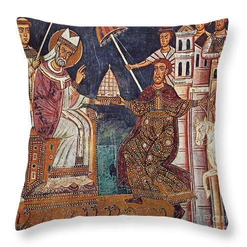 13th Century Throw Pillow featuring the painting Constantine I (c280-337) by Granger