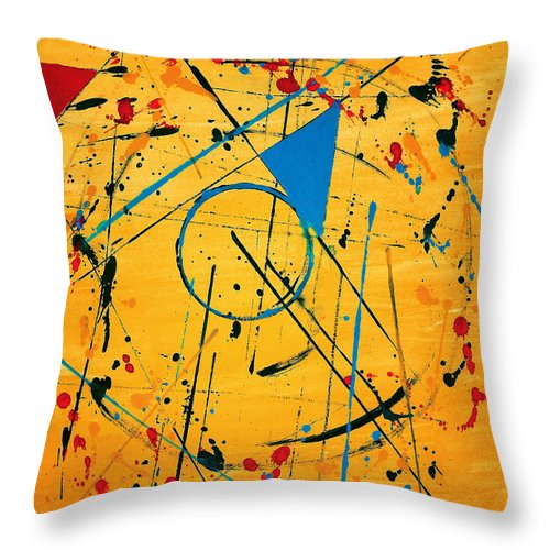 Paint Throw Pillow featuring the painting Construction No. 2 by Nicholas Ely