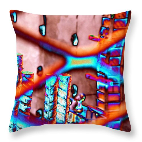 Construction Throw Pillow featuring the photograph Construction Pit by Tim Allen