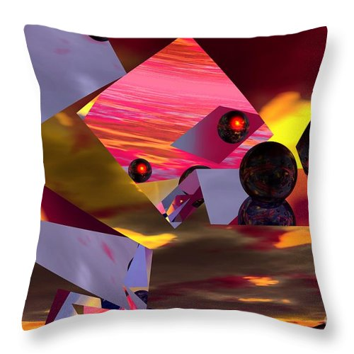 Throw Pillow featuring the digital art Contemplating The Multiverse. by David Lane