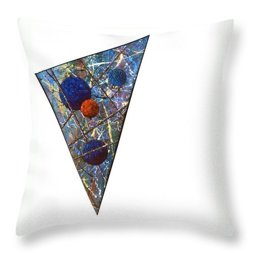 Abstract Throw Pillow featuring the painting Continuum 3 by Micah Guenther