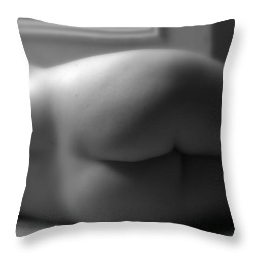 Lesbian Throw Pillow featuring the photograph Contour by Elizabeth Hart