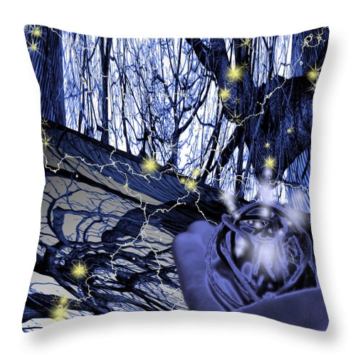 Control Throw Pillow featuring the digital art Control by Cathy Beharriell