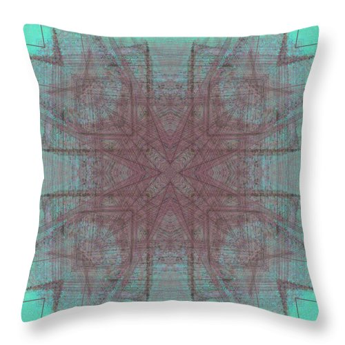 Abstract Throw Pillow featuring the digital art Convergence 5-30-2015 #3 by Steven Harry Markowitz