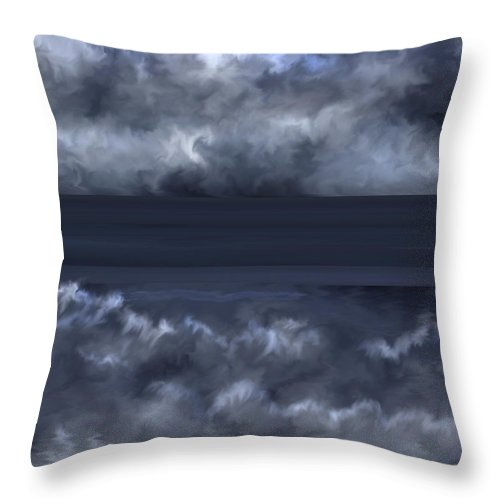 Seascape Throw Pillow featuring the painting Convergence Zone by Anne Norskog