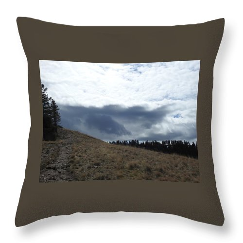 Throw Pillow featuring the photograph Convoluted Sky by Dan Hassett