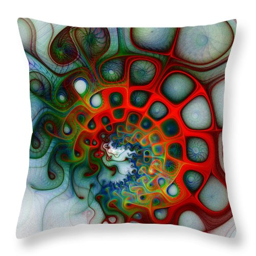 Digital Art Throw Pillow featuring the digital art Convolutions by Amanda Moore