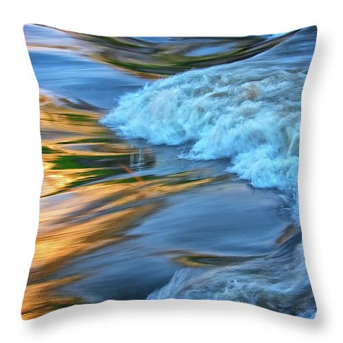 Nature Throw Pillow featuring the photograph Cool Liquid Gold by Zayne Diamond Photographic