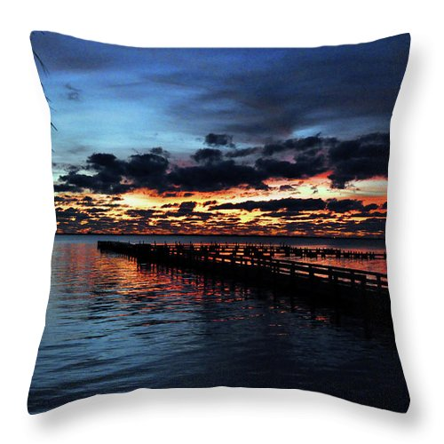 Cool Throw Pillow featuring the photograph Cool Morning Rise by Davids Digits