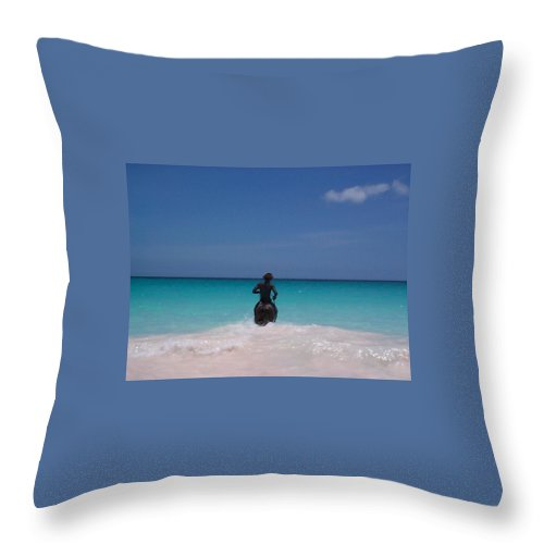 Charity Throw Pillow featuring the photograph Cool Off Man by Mary-Lee Sanders