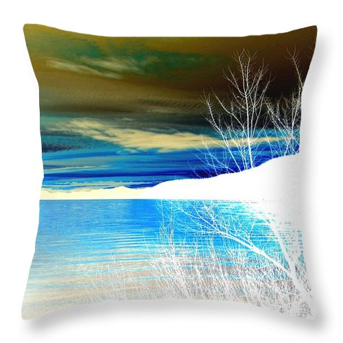 Winter Throw Pillow featuring the digital art Cool Waters by Will Borden