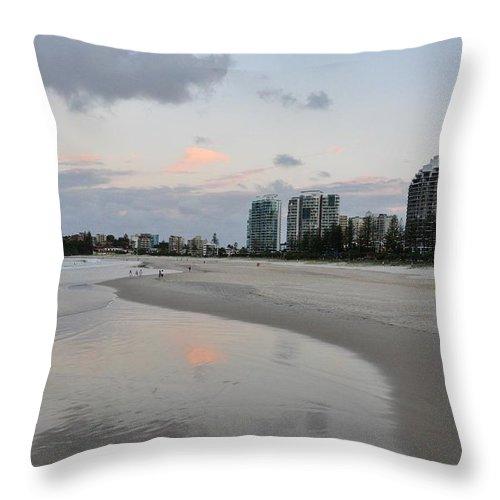 Gold Coast Throw Pillow featuring the photograph Coolangatta Reflections by Csilla Florida