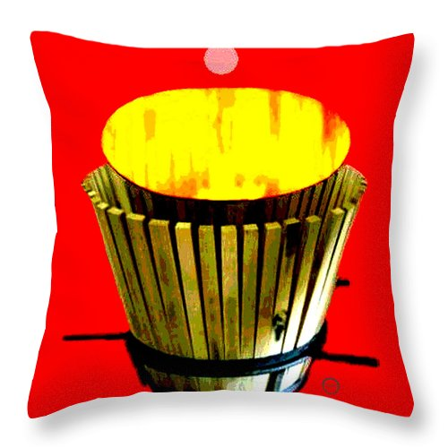 Square Throw Pillow featuring the digital art Cooperage 1 by Eikoni Images