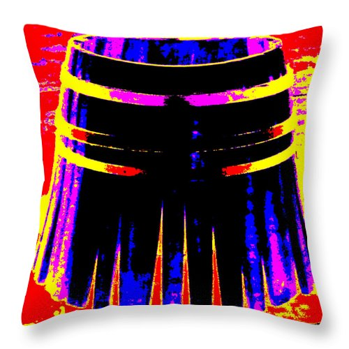 Square Throw Pillow featuring the digital art Cooperage 2 by Eikoni Images