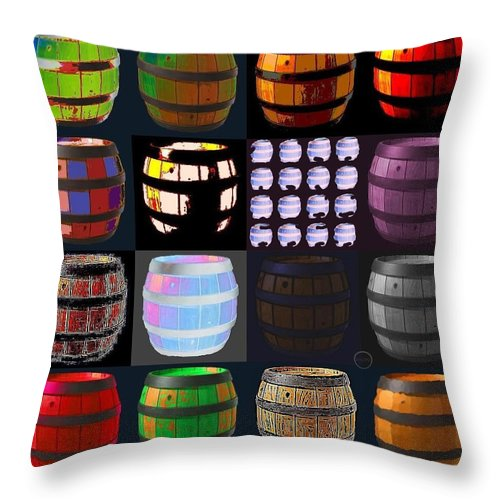 Square Throw Pillow featuring the digital art Cooperage 3 by Eikoni Images