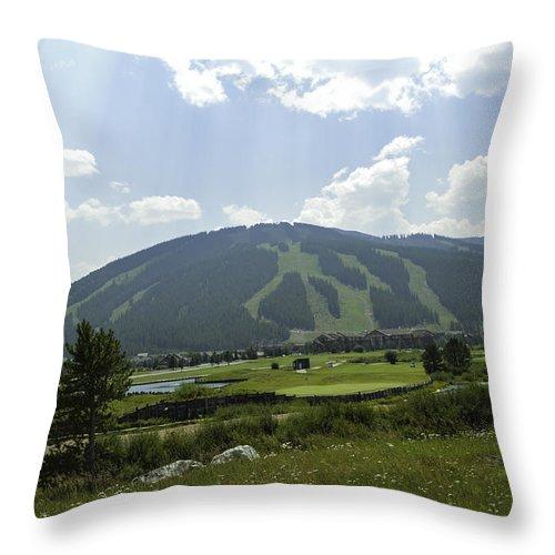#coppermountain Throw Pillow featuring the photograph Copper Mountain Ski Area - Copper Mountain Colorado by Matthew Klein