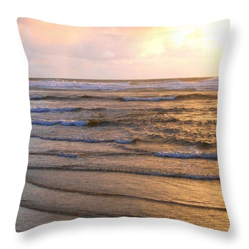 Sunset Throw Pillow featuring the photograph Copper Shores by Will Borden
