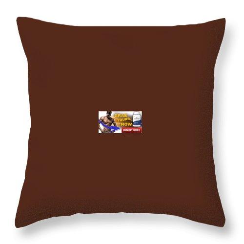 Copula Testosterone Boost Throw Pillow featuring the mixed media Copula Testosterone Boost by Copula Testosterone Boost