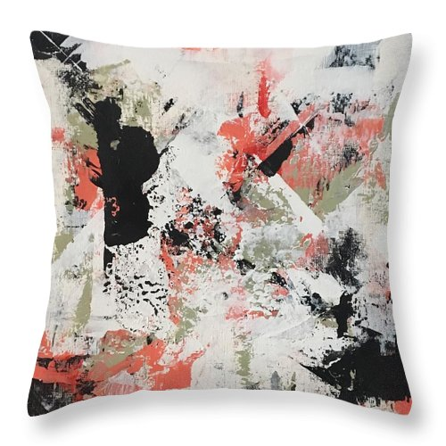 Throw Pillow featuring the painting Coral #1 by Suzzanna Frank