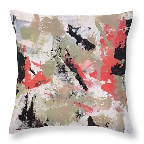 Throw Pillow featuring the painting Coral #2 by Suzzanna Frank