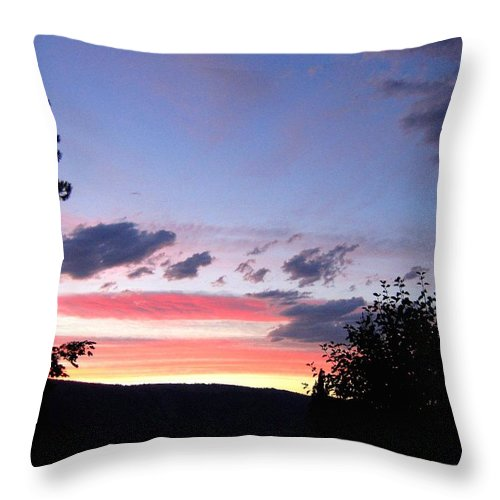 Sunset Throw Pillow featuring the photograph Coral Sunset by Will Borden