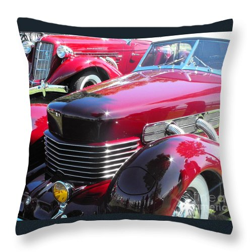 Cord Throw Pillow featuring the photograph Cord C Phaeton by Neil Zimmerman