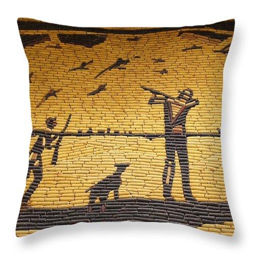 Design Throw Pillow featuring the photograph Corn Art At Corn Palace 04 by Art Spectrum