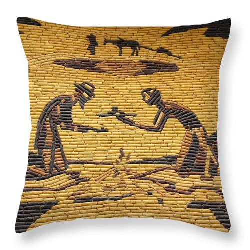 Design Throw Pillow featuring the photograph Corn Art At Corn Palace 07 by Art Spectrum