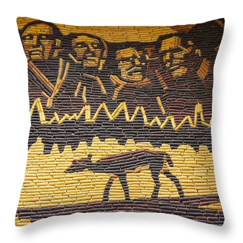 Design Throw Pillow featuring the photograph Corn Art At Corn Palace 02 by Art Spectrum