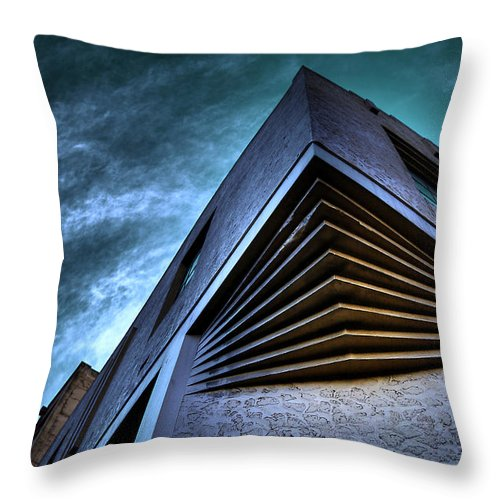 Architecture Throw Pillow featuring the photograph Corner Shot by Wayne Sherriff