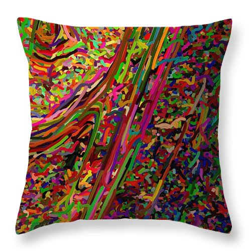In-half Throw Pillow featuring the digital art Cornered by April Patterson
