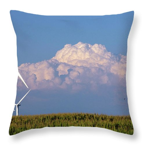 Art Throw Pillow featuring the photograph Cornergy by Alan Look