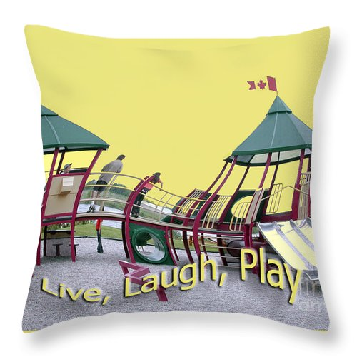 Playground Throw Pillow featuring the photograph Cornwall Play by Jacqueline Milner