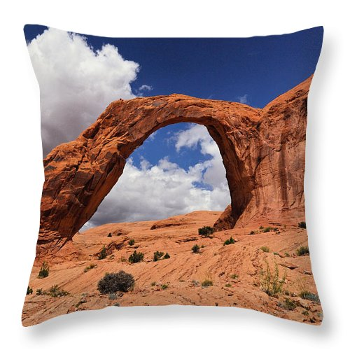 Corona Arch Throw Pillow featuring the photograph Corona Arch by Franco Valentini