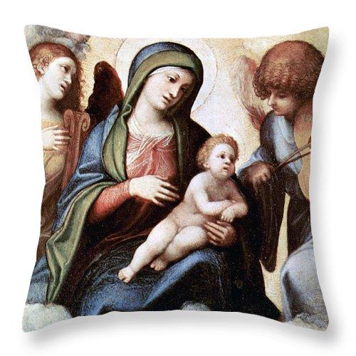 Correggio Throw Pillow featuring the photograph Correggio Painting by Munir Alawi