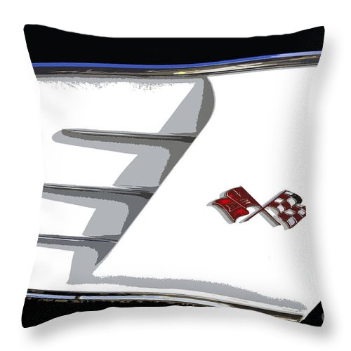 Classic Car Throw Pillow featuring the painting Corvette Colors by David Lee Thompson