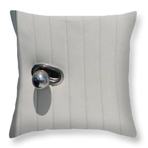 Corvette Throw Pillow featuring the photograph Corvette Door Knob by Kelly Mezzapelle