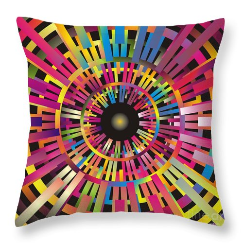 Cosmos Throw Pillow featuring the digital art Cosmic Calibrator by Walter Oliver Neal
