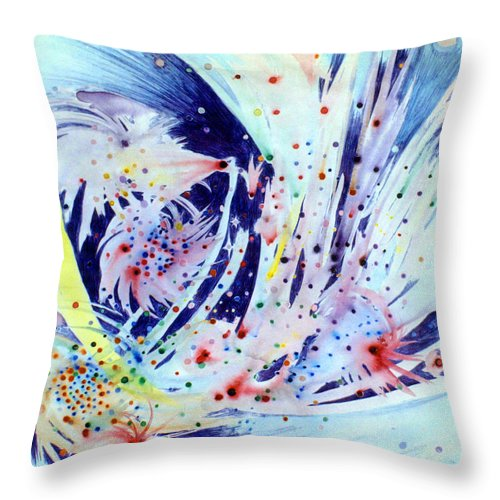 Abstract Throw Pillow featuring the painting Cosmic Candy by Steve Karol