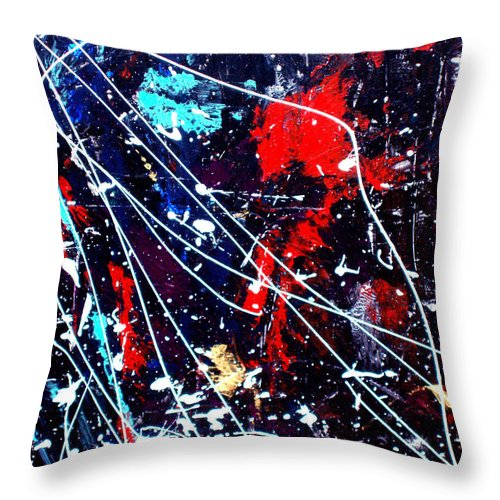 Cosmic Throw Pillow featuring the painting Cosmic Journey by Wayne Potrafka