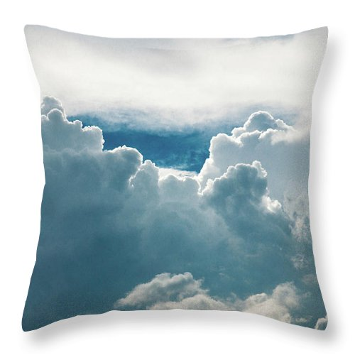 Clouds Throw Pillow featuring the photograph Cotton Clouds by Marc Wieland
