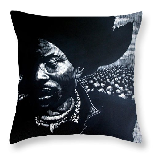 Throw Pillow featuring the mixed media Cotton The Fabric Of Our Lives by Chester Elmore