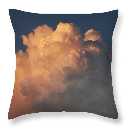 Clouds Throw Pillow featuring the photograph Cottonballs by Rob Hans