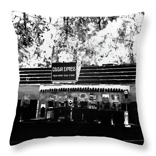 Cougar Express Throw Pillow featuring the photograph Cougar Express by Gina O'Brien